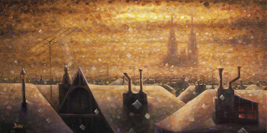 Cathedral Painting - France Cathedral 4 by Rob Buntin