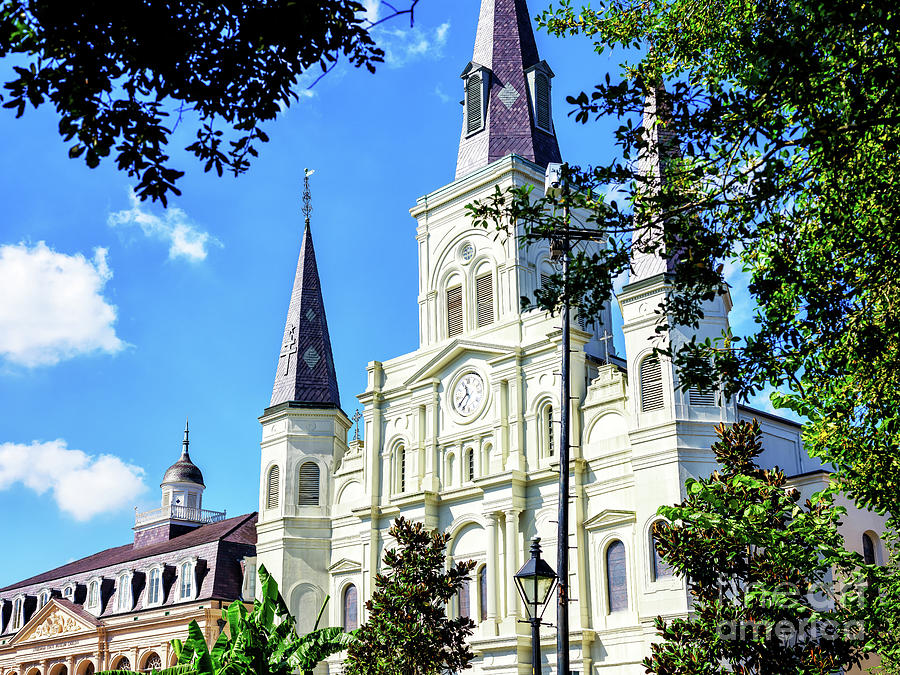 Cathedrale Saint-Louis in New Orleans by John Rizzuto