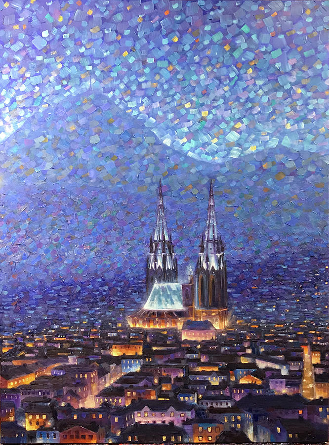Clermont-ferrand Painting - Cathedrale3 by Rob Buntin