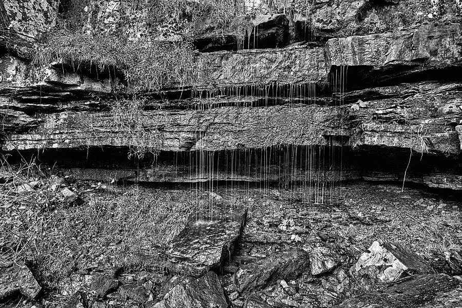 Catherine Falls Black and White by JC Findley