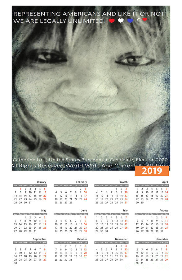 Catherine Lott Presidential Candidate Calendar by Catherine Lott