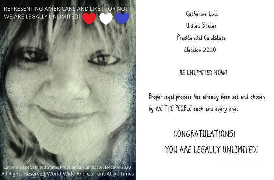 Catherine Lott United States Presidential Candidate Election 2020 American Sovereign Born Republican by Catherine Lott