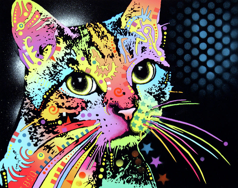 Kitty Mixed Media - Catillac New by Dean Russo