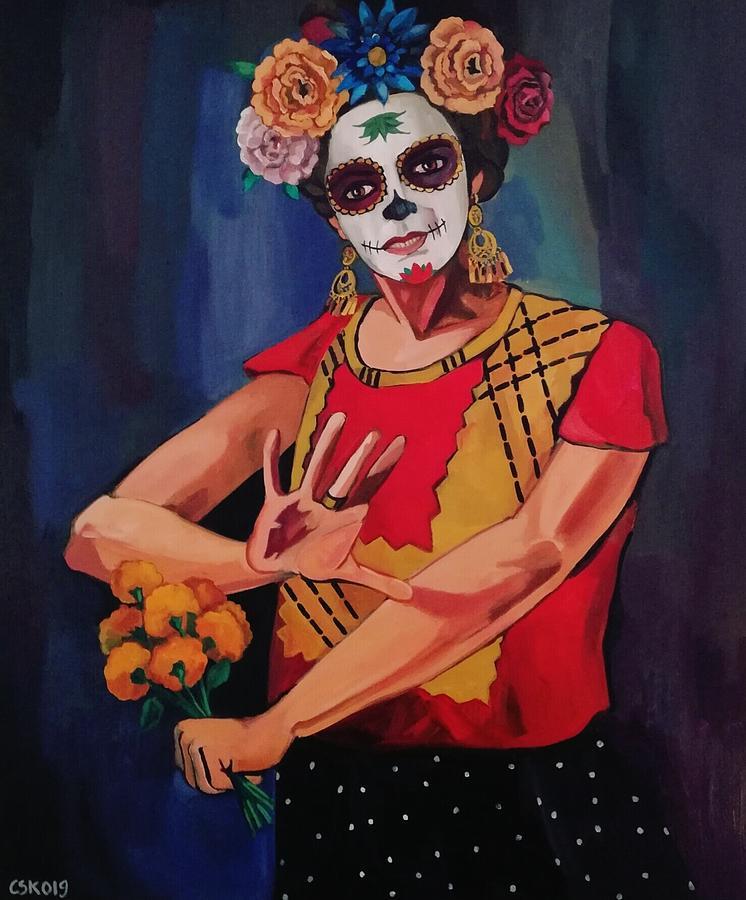 Catrina Painting - Catrina by Carmen Stanescu Kutzelnig