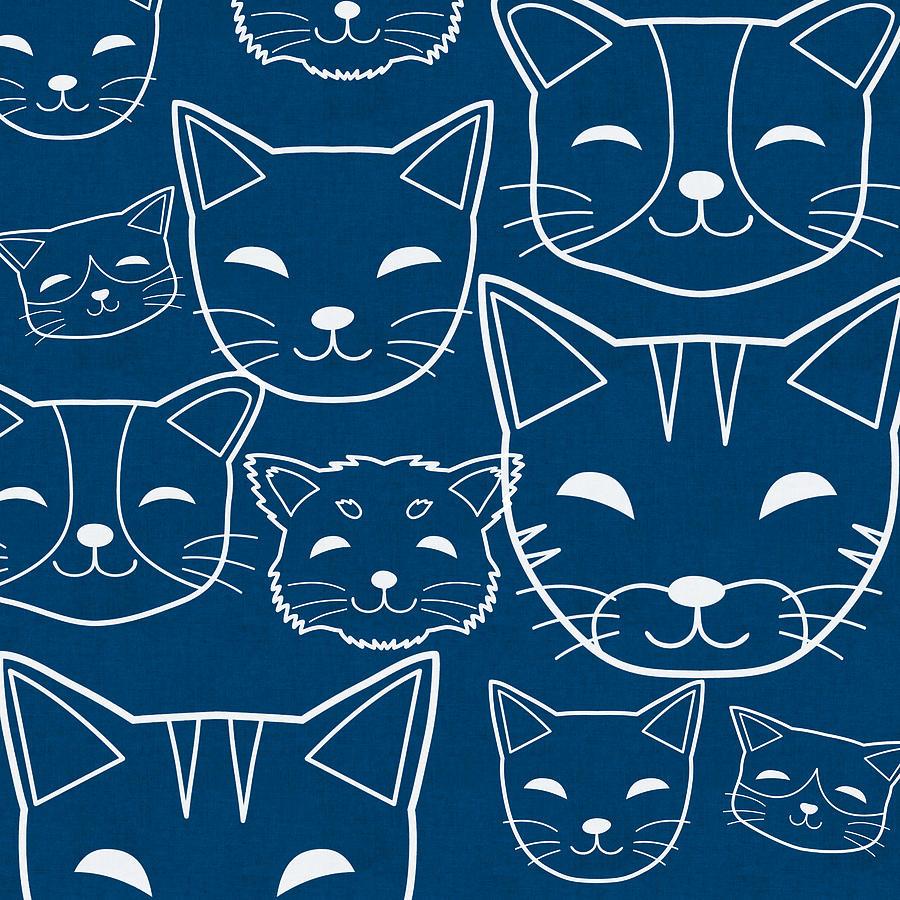 Cats Digital Art - Cats- Art by Linda Woods by Linda Woods