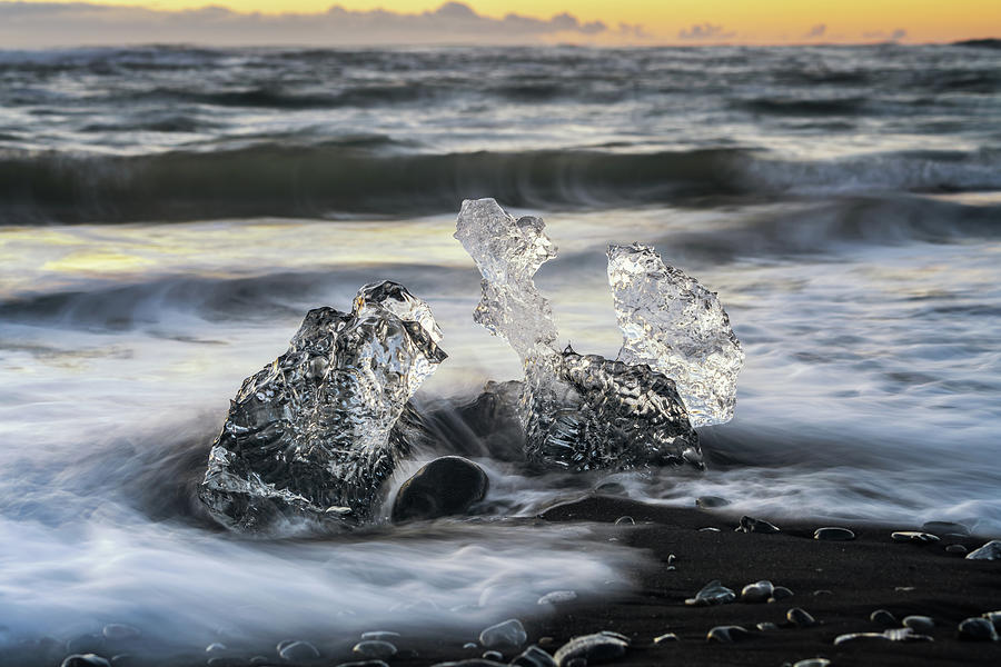Iceland Photograph - Caught in a Wave by Framing Places