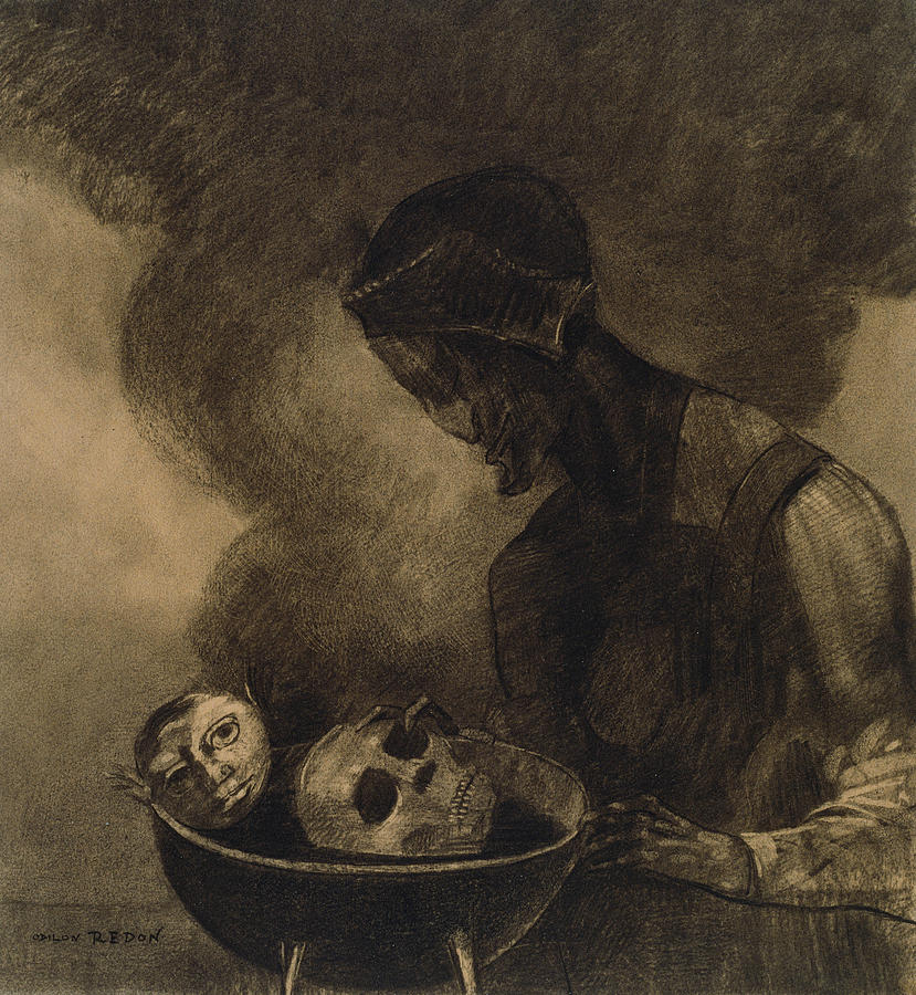 Cauldron of the Sorceress by Odilon Redon