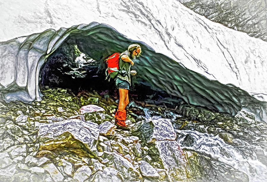 Cave Man - Paint Photograph
