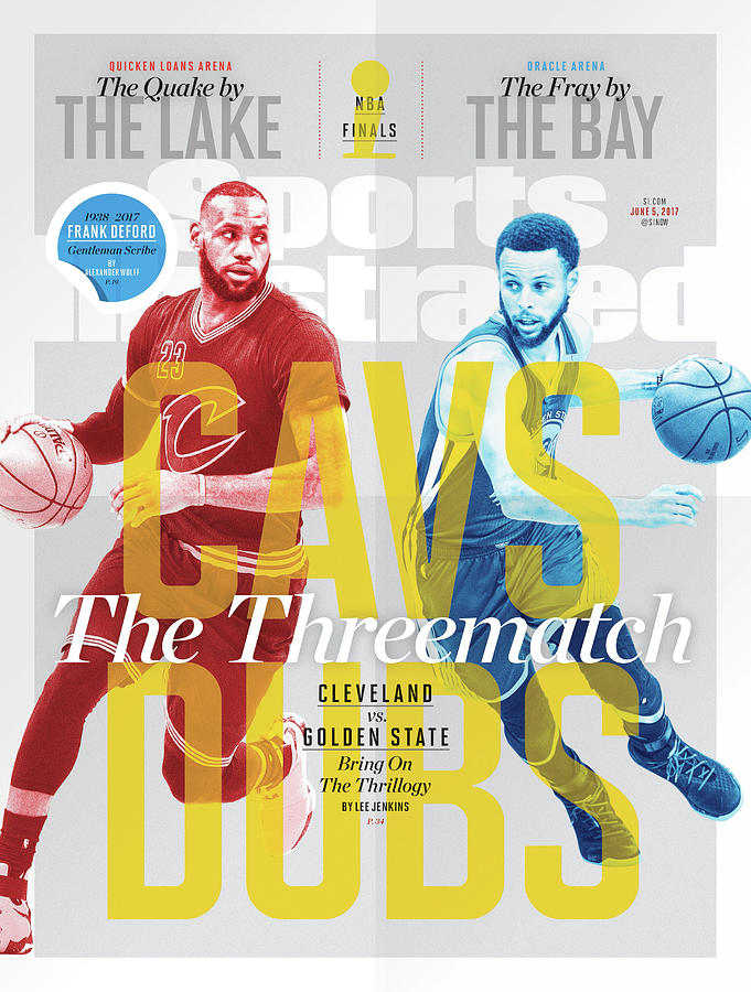 Cavs - Dubs The Threematch Sports Illustrated Cover Photograph by Sports Illustrated
