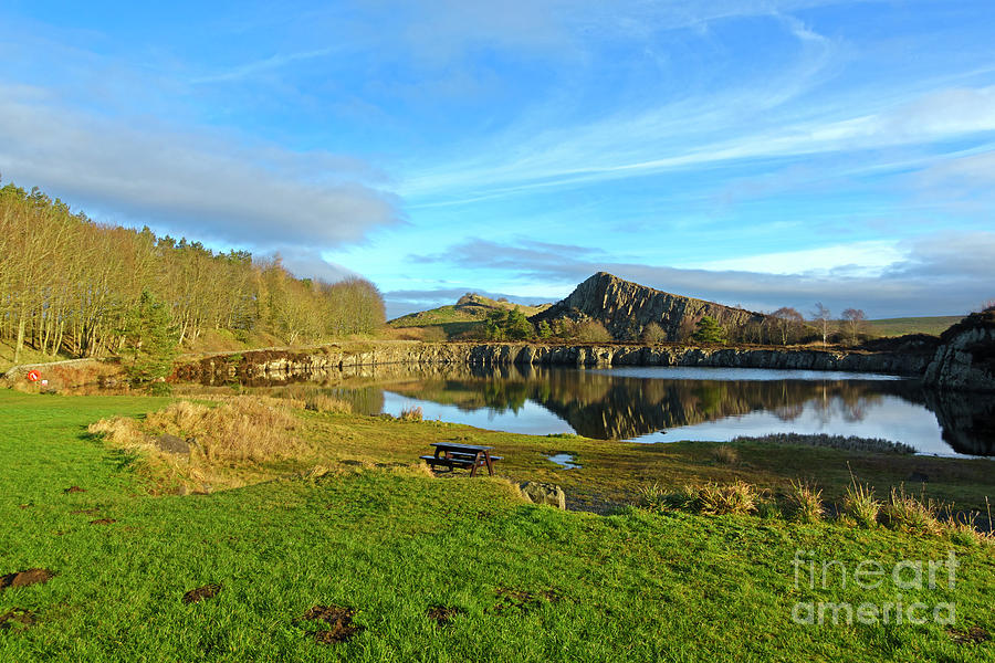 Hadrians Wall Photograph - Cawfield Quarry And Hadrians Wall In Northumberland by Louise Heusinkveld