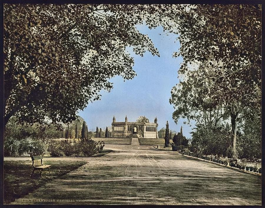 Cawnpore Memorial Well And Garden  19th Century Colorized By Ahmet Asar Painting