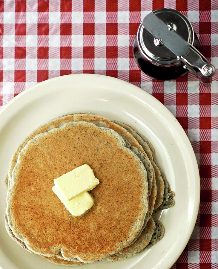 Cecilias Cafe Blue Corn Piñon Pancakes Photograph by Sergio Salvador