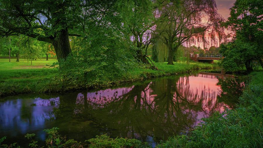 Cedar Beach Sunset Reflection by Jason Fink