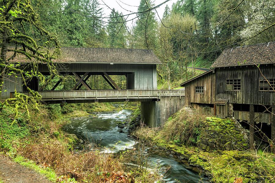 Cedar Creek Covered Bridge and Grist Mill by Belinda Greb