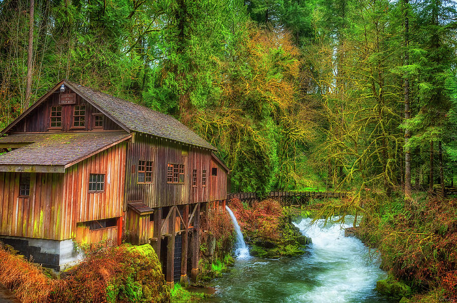 Cedar Creek Grist Mill by Dee Browning