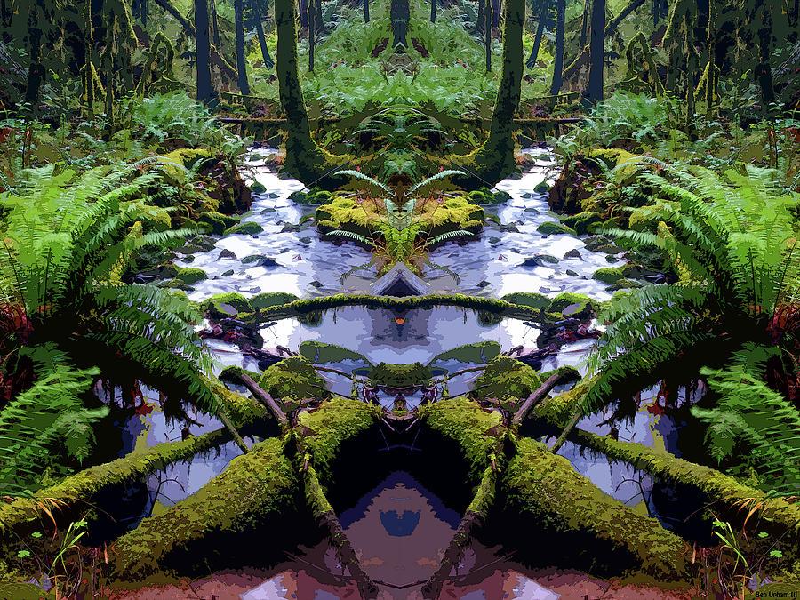 Cedar Creek Mirrored Art by Ben Upham III