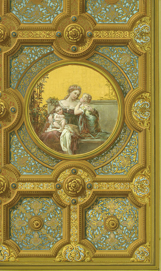 Ceiling of Rear Hall, Kemble Residence by George Herzog