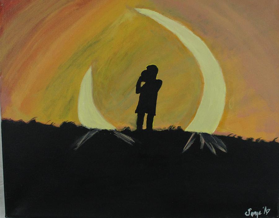 Celebration of life  Painting by Sonye Locksmith