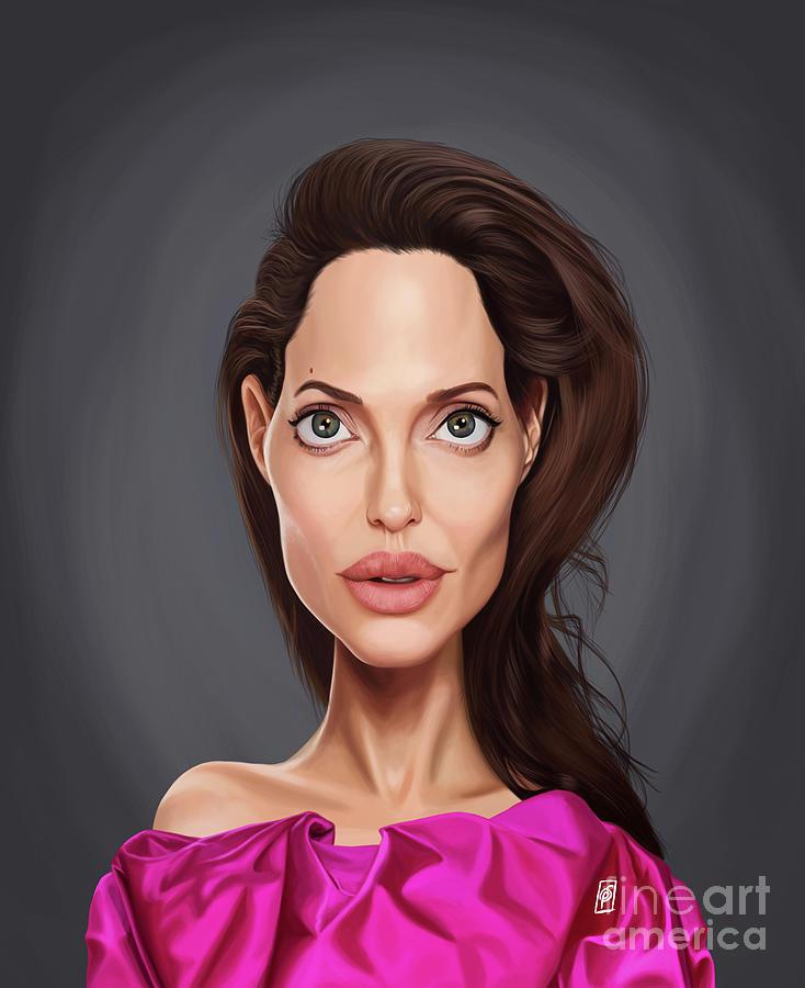 Celebrity Sunday - Angelina Jolie by Rob Snow