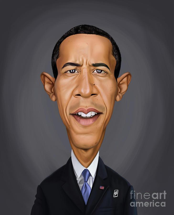 Celebrity Sunday - Barack Obama by Rob Snow
