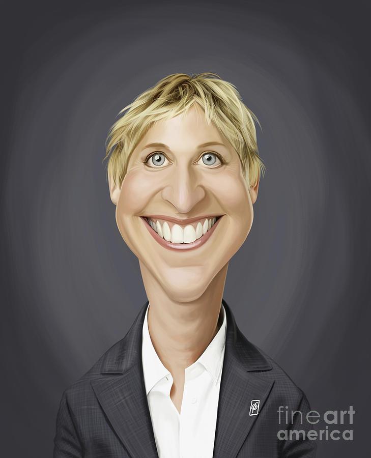Celebrity Sunday - Ellen Degeneres by Rob Snow