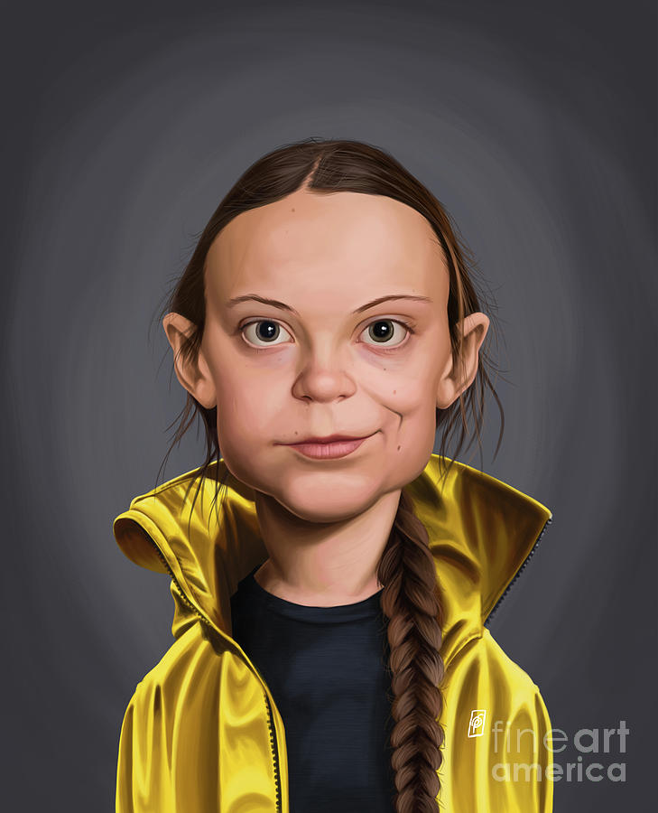 Celebrity Sunday - Greta Thunberg by Rob Snow