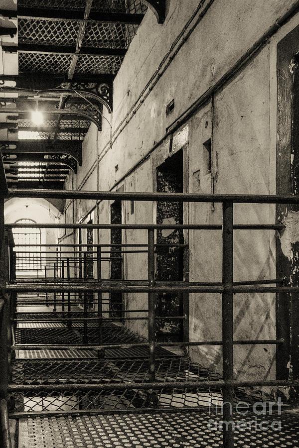 Kilmainham Goal Photograph - Cell Block 3 by Bob Phillips