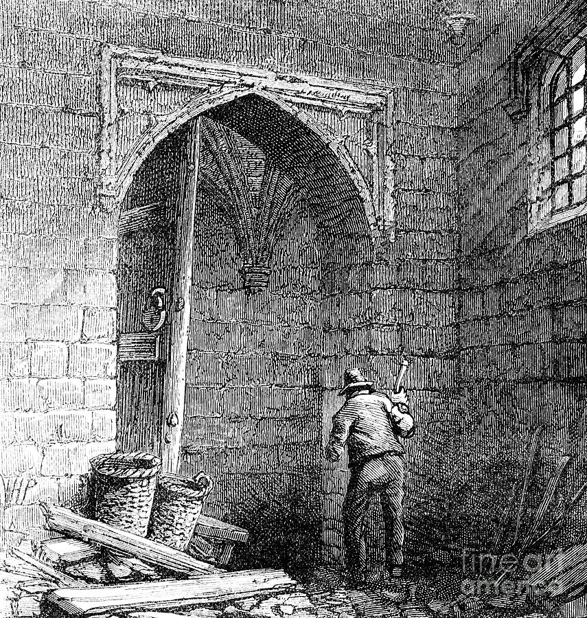 Cellars Beneath The Houses Drawing by Print Collector