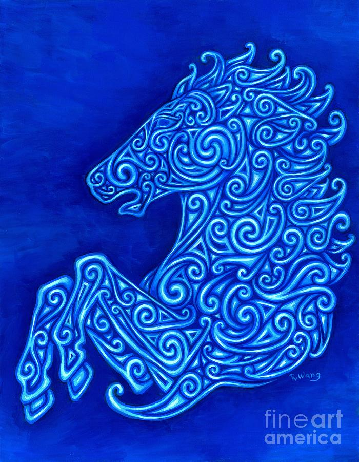 Celtic Painting - Celtic Horse by Rebecca Wang