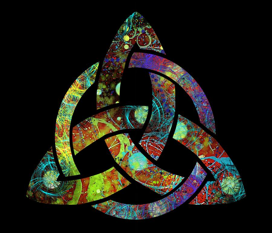 Triquetra Digital Art - Celtic Triquetra or Trinity Knot Symbol 3 by Joan Stratton