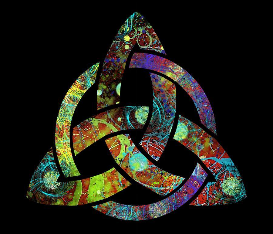 Irish Digital Art - Celtic Triquetra Or Trinity Knot Symbol 3 by Joan Stratton