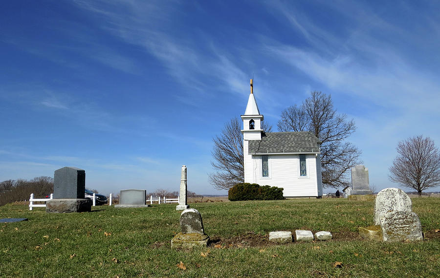 Cemetery From 1800s and Tiny Chapel by Carolyn Fletcher