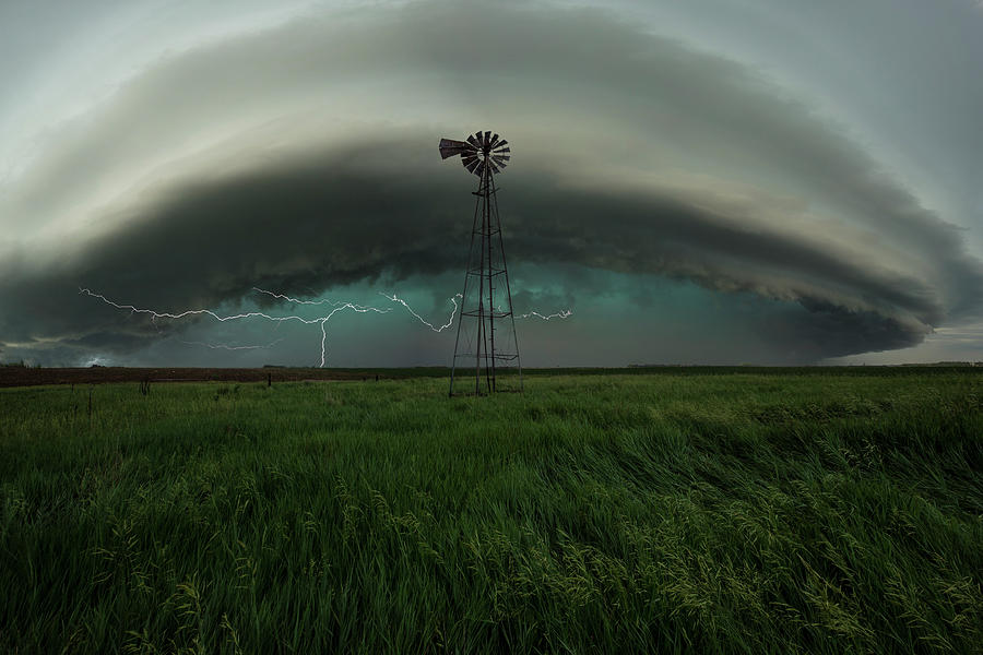 Windmill Photograph - Center of attention  by Aaron J Groen