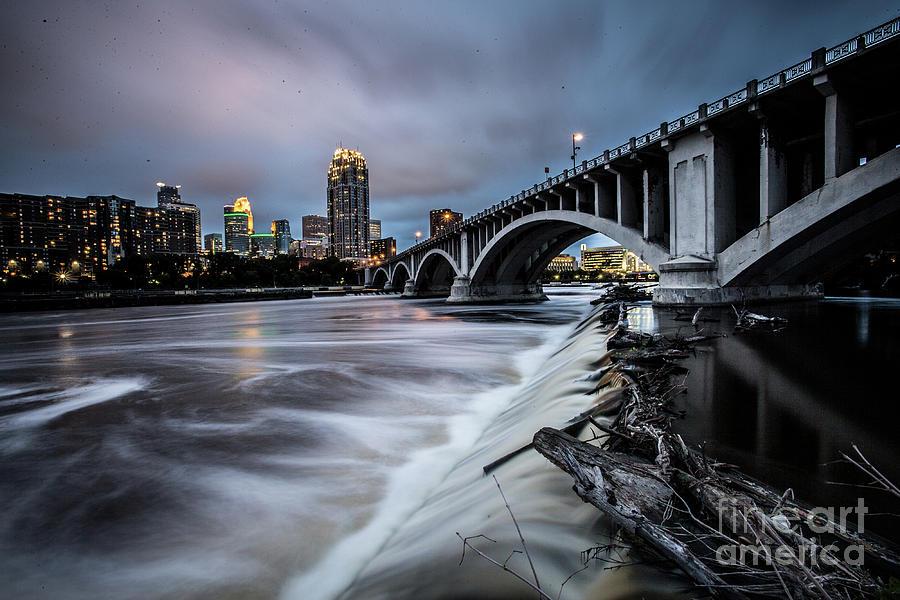 Central Ave Bridge Falls Photograph