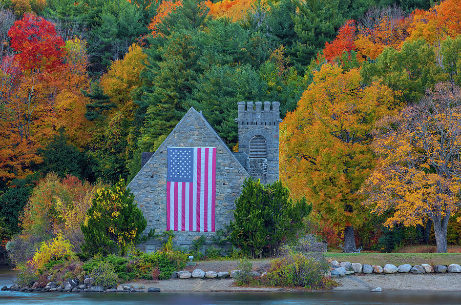 Central Massachusetts Fall Foliage at the Old Stone Church  by Juergen Roth