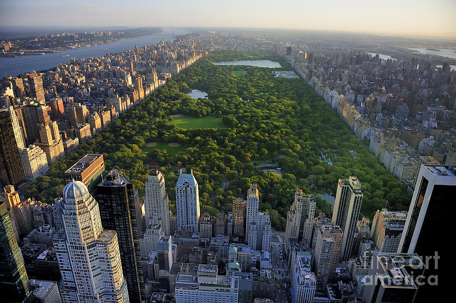 Usa Photograph - Central Park Aerial View, Manhattan by T Photography