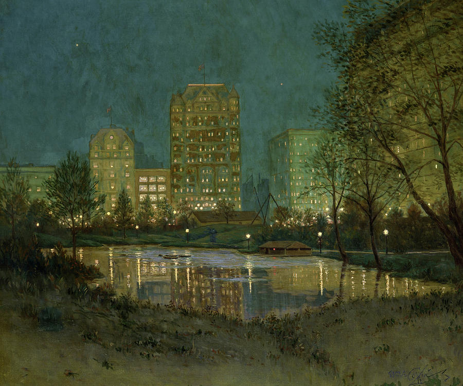 Coffin Painting - Central Park And The Plaza, 1918 by William Anderson Coffin