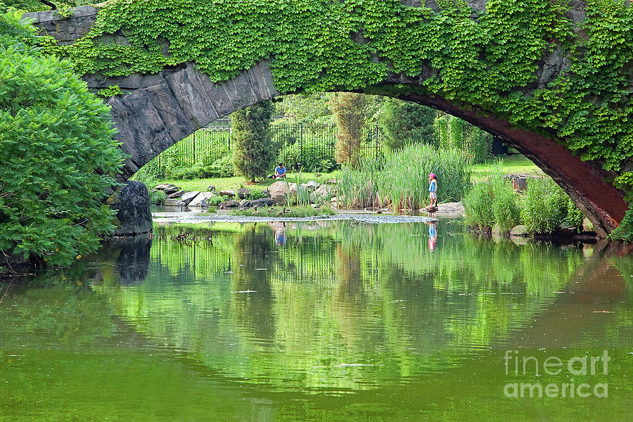 Central Park Photograph - Central Park Gapstow Bridge II by Regina Geoghan