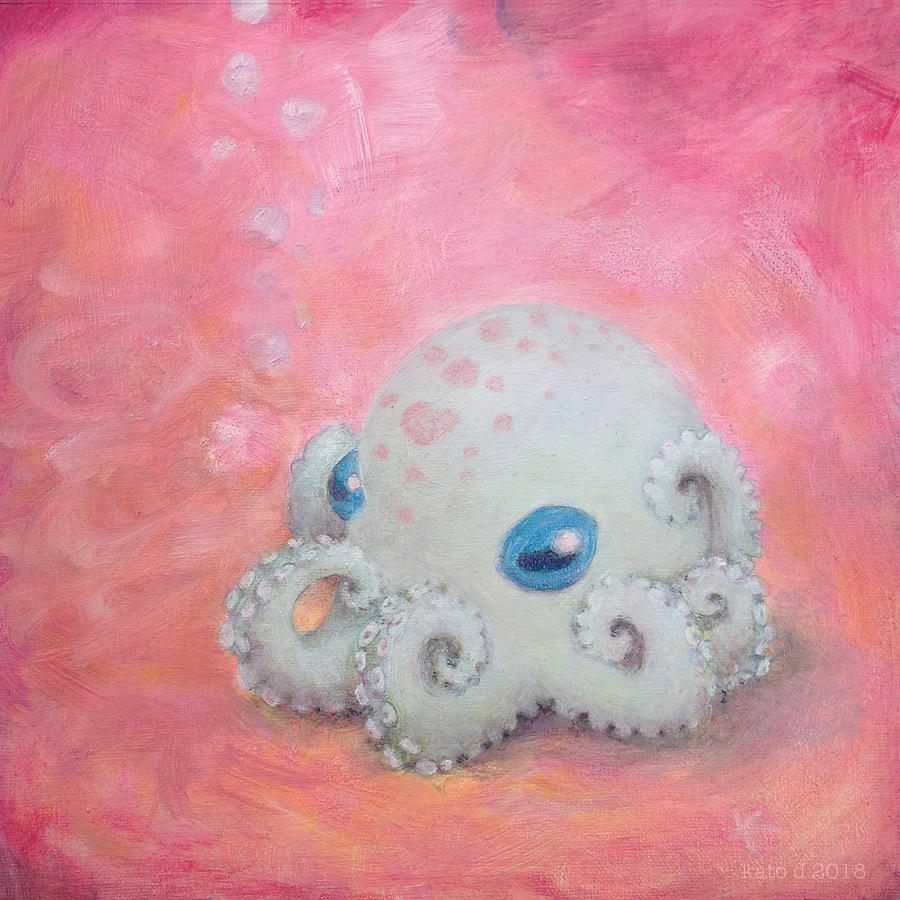 Octopus Painting - Cephalopod From Another Planet by Kato D
