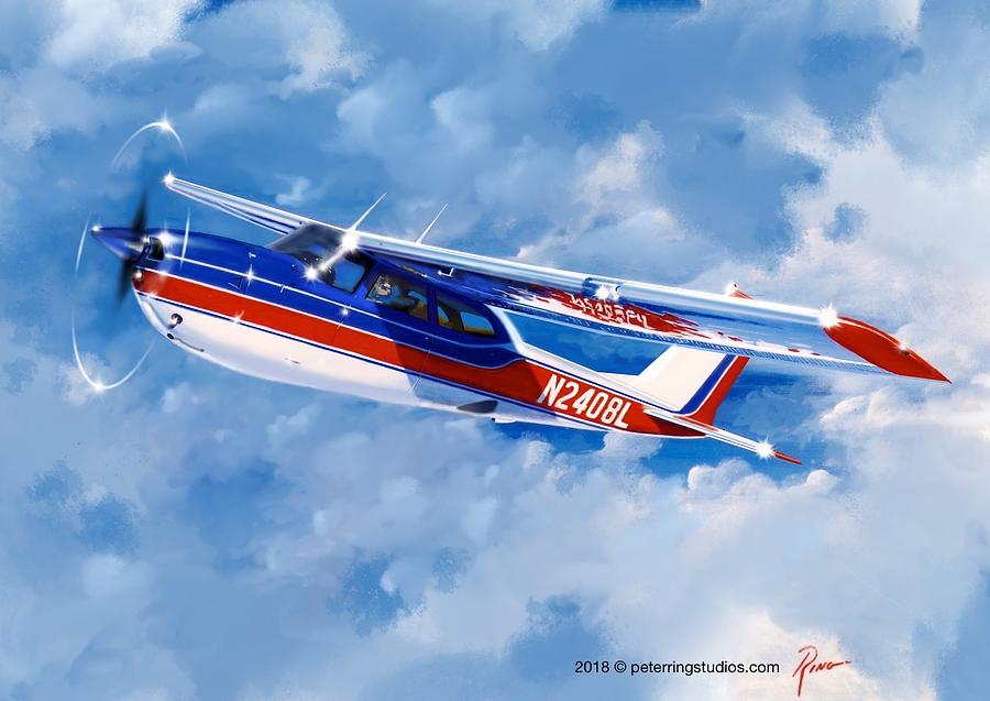 Cessna Painting - Cessna RG by Peter Ring Sr