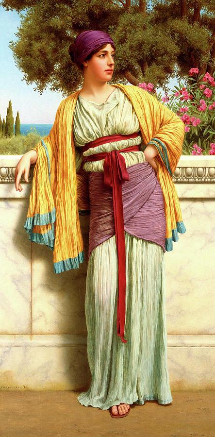 John William Godward Painting - Cestilia by John William Godward
