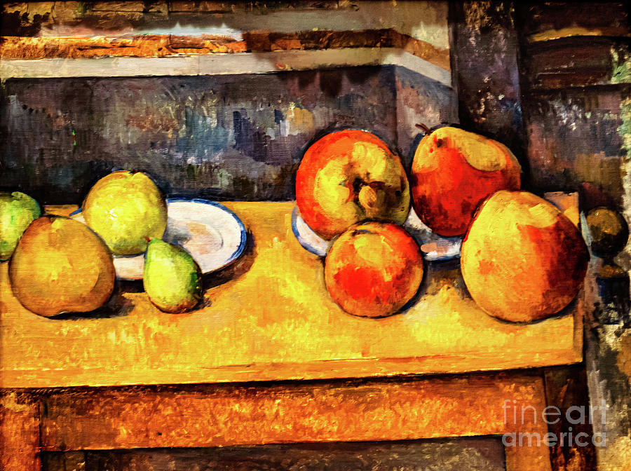 Cezanne Still Life with Apples and Pears by Paul Cezanne