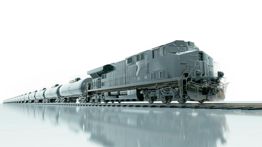 Cgi Of Fuel Freight Train And Locomotive Photograph by Coneyl Jay