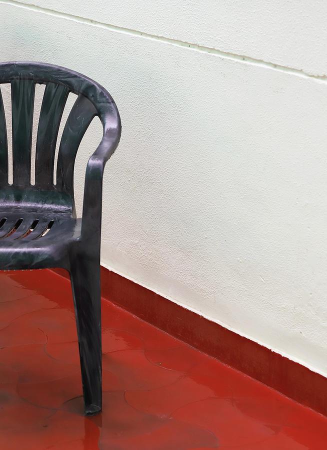 Chair and White Wall by Prakash Ghai