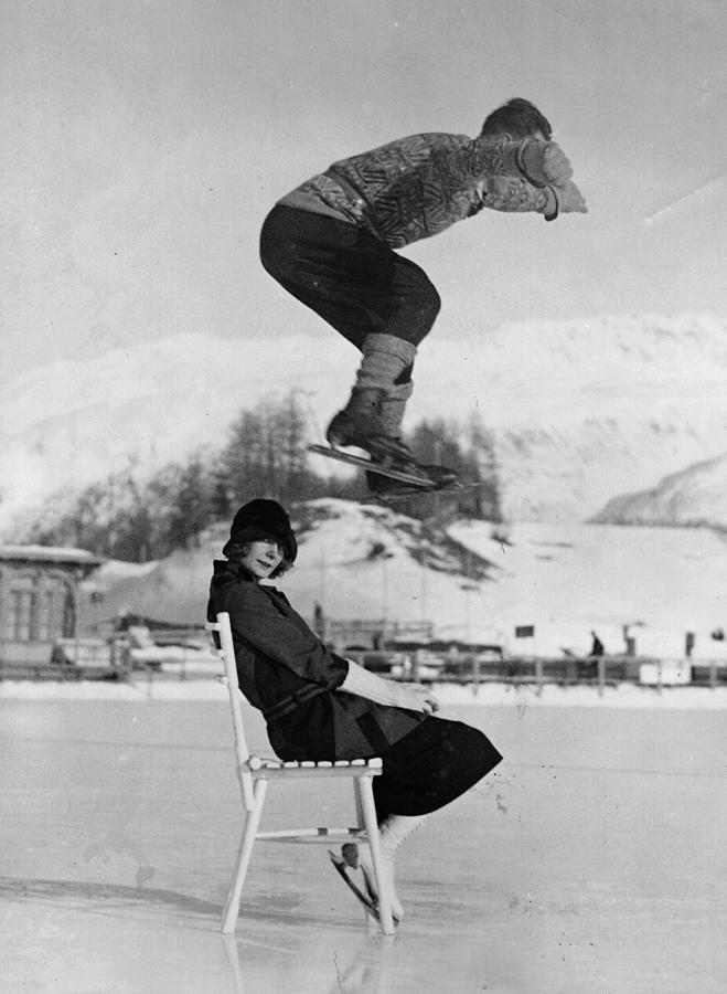 Chair Skate Leap Photograph by Hulton Archive