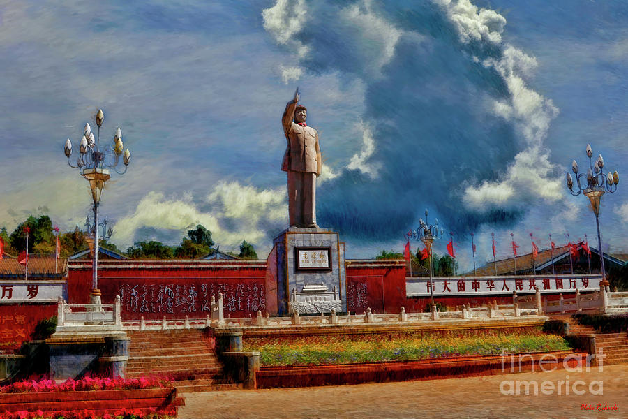 Chairman Mao Memorial Statue In LiJiang by Blake Richards