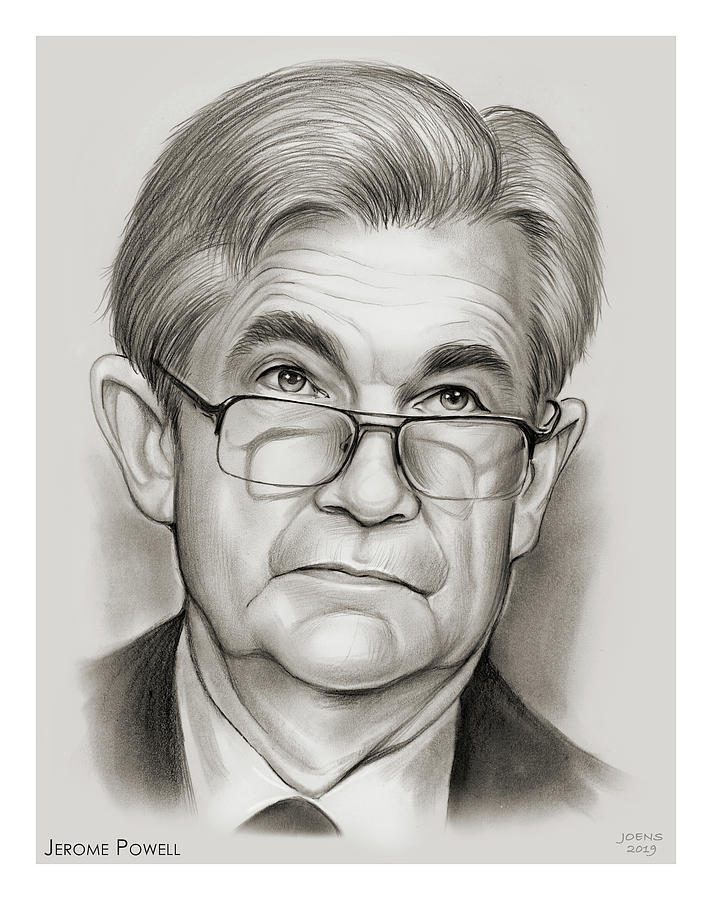 Chair Drawing - Chairman Powell by Greg Joens