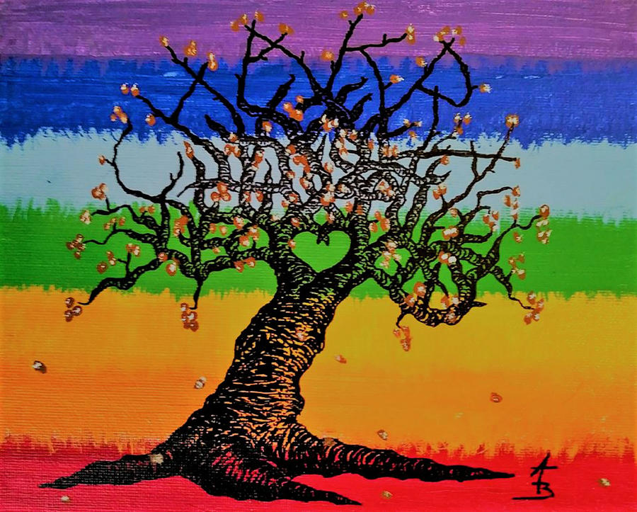 Chakra Love Tree by Aaron Bombalicki