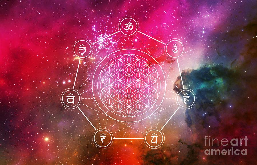 Chakras Balance Sacred Geometry by Nathalie DAOUT