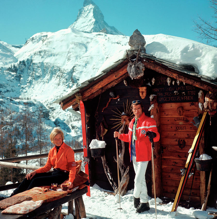 Chalet Costi Photograph by Slim Aarons